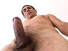 Handsome man with really hot body jerking off his hard dick mature gay fuck