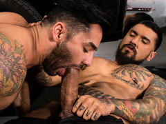 Bruno Bernal enters the shop to find Boomer Banks hard at put into below a pickup. Bruno helpfully passes a equipment to Boomer, but Bruno's hand drifts down to explore the massive equipment in Boomer's pants. Boomer's monster meat is an irresistible temp mature gay fuck