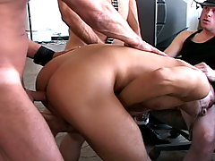 Gay Bareback Bareback Leather Fuck Fest - scene 1 mature gay fuck