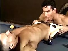 Hunk is stuffed with enormous dildo mature gay fuck