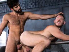 Navy seamen Tegan Zayne and Spencer Whitman are on the job in the boiler room, making certain everything is ship-shape. When Spencer's navy blues start slipping off his ass, Tegan sees an opportunity to get better acquainted. As Spencer's pants fall, his