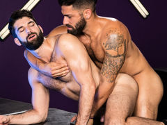 Intense mouth to mouth erupts among Adam Ramzi and Tegan Zayne. Their hands grope per other's as mother gave birth bodies and hard cocks, and their tongues explore per other's mouths. The connection among these two hairy studs shoves per with a lust for m mature gay fuck