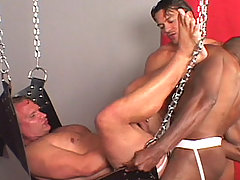 Gay Bareback Carlos, Whitney and Alex mature gay fuck