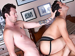 Gay Bareback Luke, Orion & Josh mature gay fuck