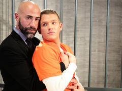 Teen heart throb twink Brandon Wilde gives big, dark, smoldering defense attorney too much attitude. Damon Andros shows Brandon who's boss as this boy kisses the blond boy hard and then has him blow his massive cock. Brandon is eager and able as this boy mature gay fuck