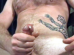 Tattoed stud having some hot solo masturbation fun here mature gay fuck