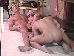 Tight Asian ass hammered and jizzed mature gay fuck
