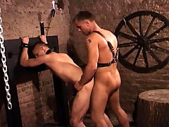 Slave having hard anal sex and gets facialized by his Master