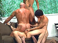 Men Fucking Each Other During Crazy Gangbang