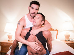 Nick Capra invites Tony Salerno up to his cabin to make their rencounter more private. Tony feels bad about keeping this a clandestine from his wife. Coming to agreement to keep their encounter between them, Tony starts to wonder if Nick is only doing thi mature gay fuck