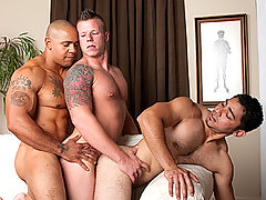 Gay Bareback Justin Jameson, Juan Steel & Miguel Temon mature gay fuck