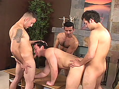 Gay Bareback Carlos, Angel, Armando and Erik mature gay fuck